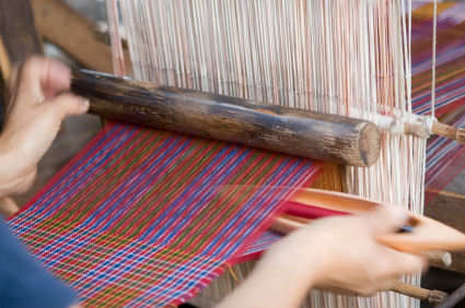 Weaving loom in Bhutan